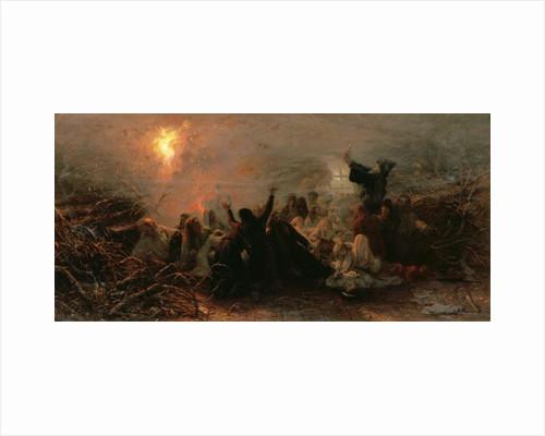Self-Immolation by Grigori Grigorievich Mjasoedov