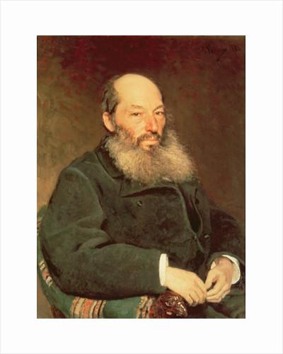 Portrait of Afanasy Fet by Ilya Efimovich Repin