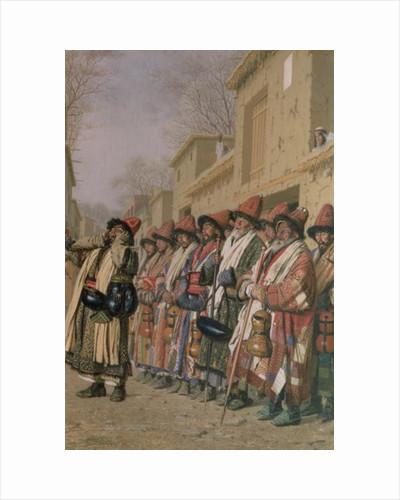 Dervishes' Chorus Begging Alms in Tashkent by Piotr Petrovitch Weretshchagin