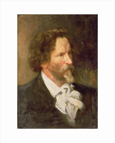 Portrait of Ilja Repin by Boris Mikhailovich Kustodiev