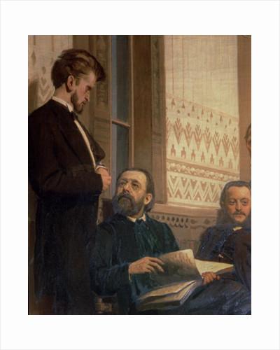 Eduard Frantsovitch Napravnik and Bedrich Smetana by Ilya Efimovich Repin