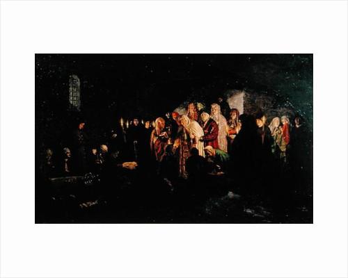 Empress Giving Alms by Baron Mikhail Petrovich Klodt von Jurgensburg