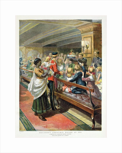 Children's Christmas Dinner at Sea from the Graphic Christmas Number by Godefroy Durand