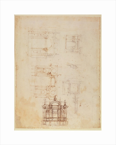 Studies for architectural composition in the form of a triumphal arch by Michelangelo Buonarroti