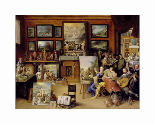 Pictura posters pictura prints pictura poesis and musica in a pronkkamer by frans ii the younger francken m4hsunfo