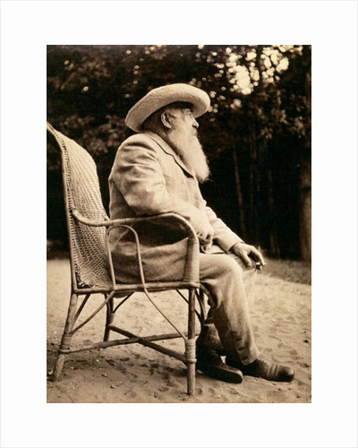 Claude Monet in the garden of Giverny by French Photographer