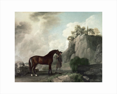 'Cato' and Groom by George Stubbs