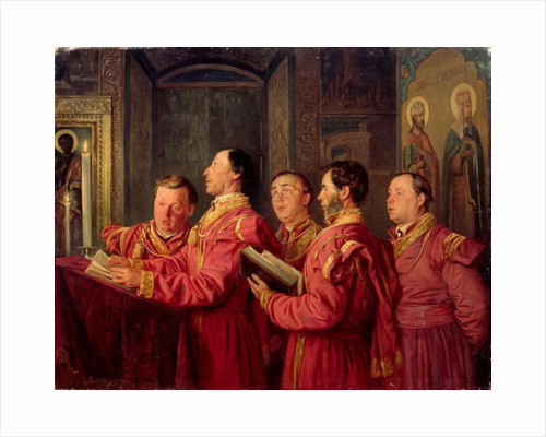 Choristers in the Church by Vladimir Egorovic Makovsky