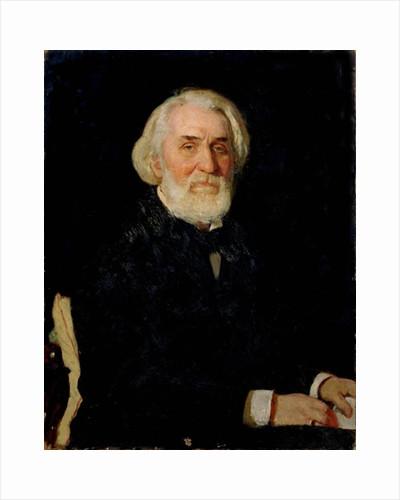 Portrait of Ivan S. Turgenev by Ilya Efimovich Repin