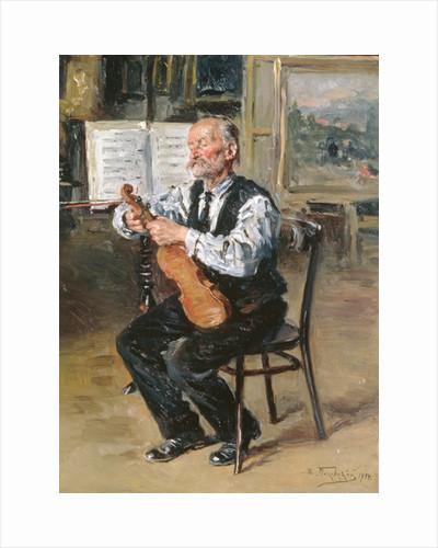 A Violin Maker by Vladimir Egorovic Makovsky