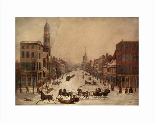 Wall Street in Winter by Peter Maverick