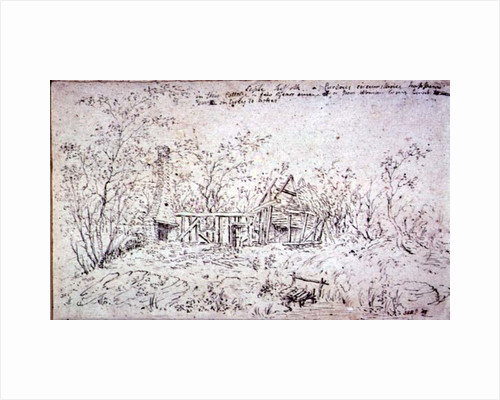 A ruined cottage at Capel, Suffolk by John Constable
