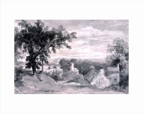 The Entrance to the Village of Edensor The Entrance to the Village of Edensor, 1801 by John Constable