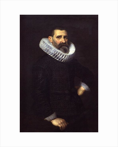 Portrait of a gentleman in a black tunic and ruff by Nicolaes Eliasz