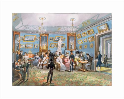 A Society Drawing Room by Karl Ivanovich Kolmann
