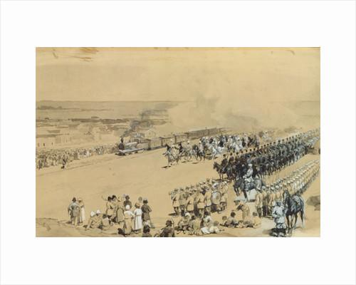 The First Train by Konstantin Apollonovich Savitsky