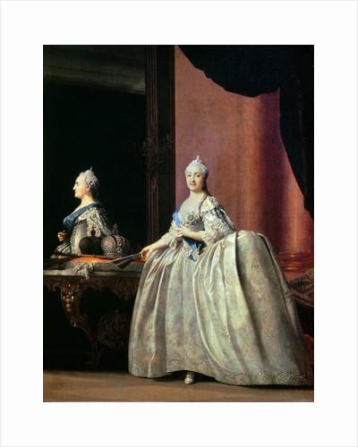 Empress Catherine II before the mirror by Vigilius Erichsen