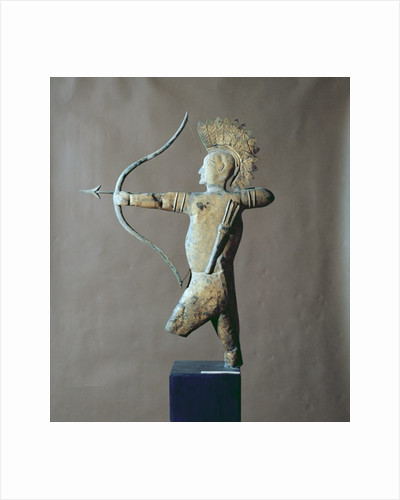 Weather vane in the form of an American Indian by Unknown