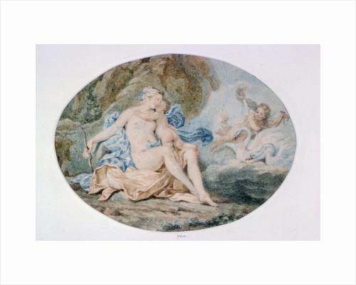 Venus Reclining on a Bank strewn with Drapery by Francesco Bartolozzi