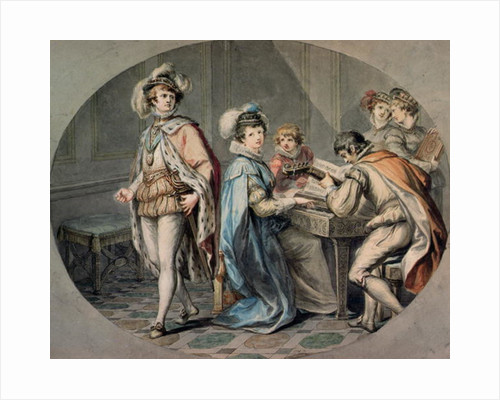 The Jealousy of Darnley by Giovanni Battista Cipriani
