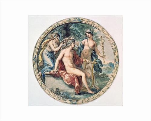 Apollo with his Lyre, Mercury and a Muse by Giovanni Battista Cipriani