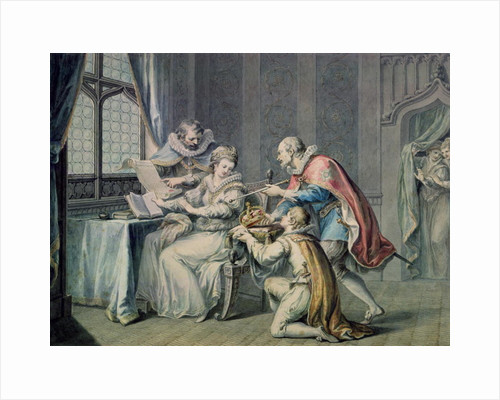 The Dukes of Northumberland and Suffolk praying Lady Jane Grey to accept the Crown by Giovanni Battista Cipriani
