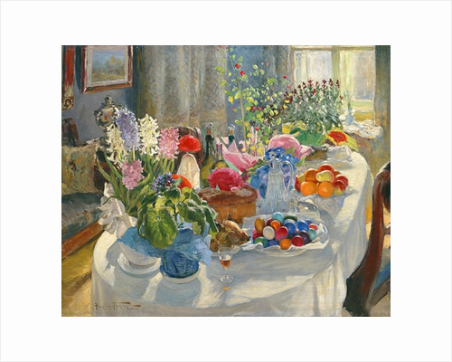 Easter Table by Alexander Vladimirovich Makovsky