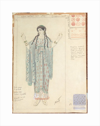 Lady-in-waiting, costume design for 'Hippolytus' by Euripides by Leon Bakst