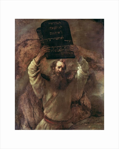 Moses Smashing the Tablets of the Law by Rembrandt Harmensz. van Rijn