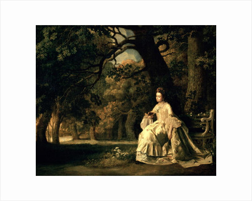 Lady reading in a Park by George Stubbs