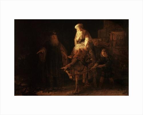 The Departure of the Shemanite Wife by Rembrandt Harmensz. van Rijn