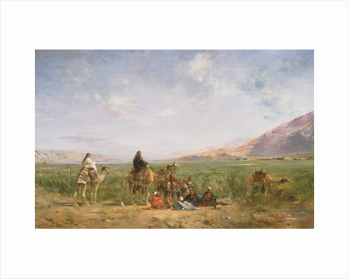 Travellers resting at an Oasis by Eugene Fromentin