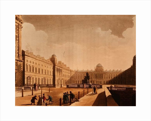 Somerset House, the Strand by Thomas Rowlandson