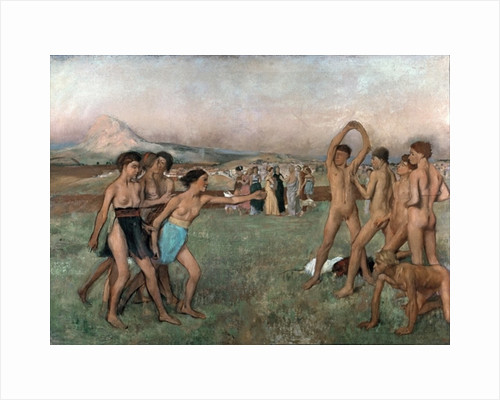 Young Spartans Exercising by Edgar Degas