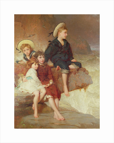 The Children of Sir Hussey Vivian at the Seaside by George Elgar Hicks