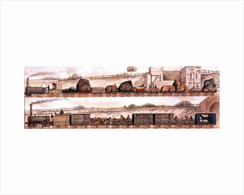 Liverpool and Manchester Railway: Freight and livestock by English School