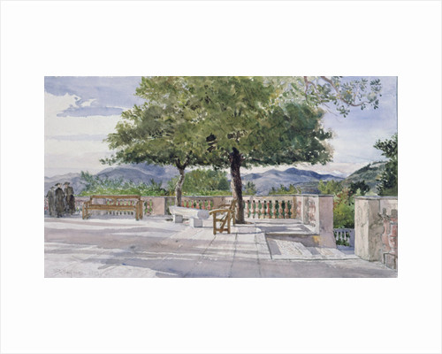 Terrace at Nice by John Fulleylove