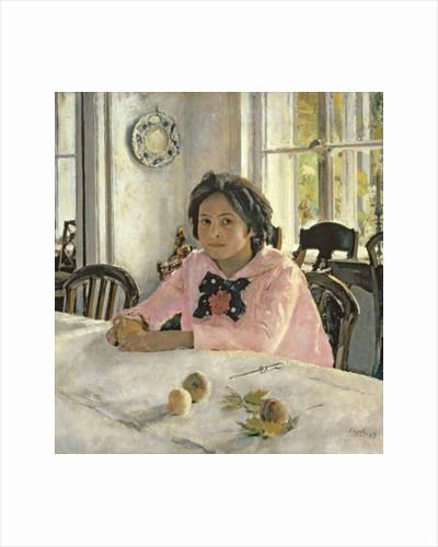 Girl with Peaches by Valentin Aleksandrovich Serov