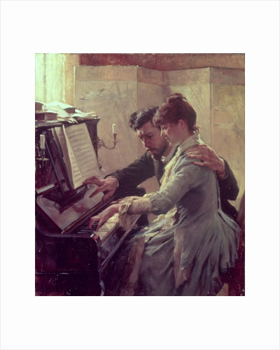 At the Piano by Albert Gustaf Aristides Edelfelt