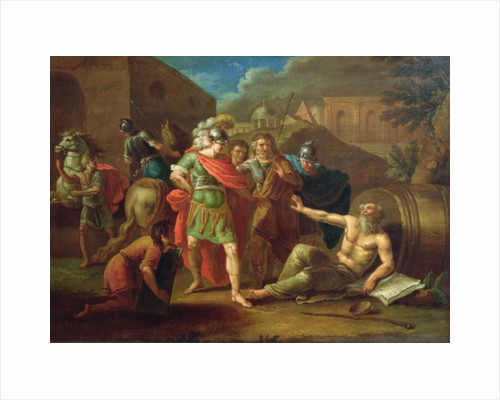Alexander the Great visits Diogenes at Corinth by Ivan Philippovich Tupylev