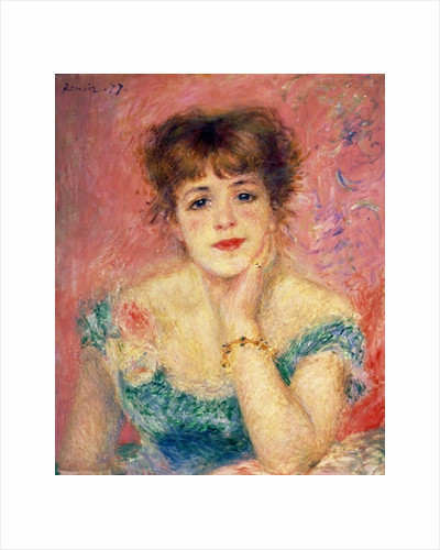 Portrait of the actress Jeanne Samary by Pierre Auguste Renoir
