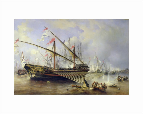 The Battle of Grengham on by Ferdinand Victor Perrot