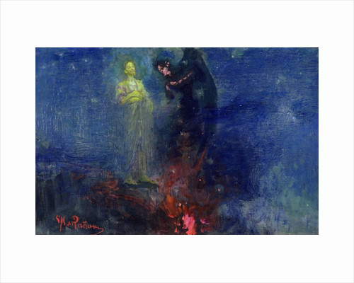 Get Thee Hence, Satan! by Ilya Efimovich Repin