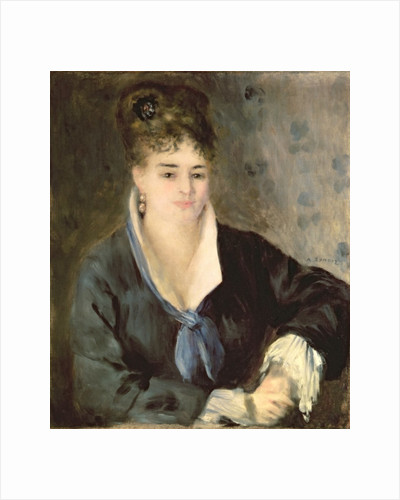 Lady in Black by Pierre Auguste Renoir