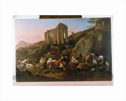 Classical Landscape with Animals by Johann Heinrich Roos