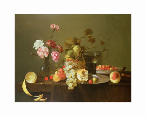 Still Life of Fruit and Flowers by Michiel Simons