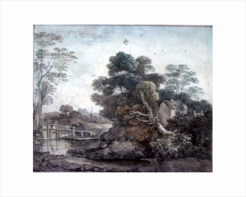 Landscape with Cottage and Stream by Thomas Gainsborough