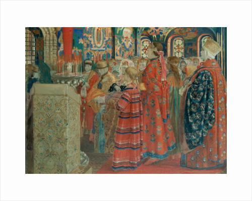 Seventeenth Century Russian Women at Church by Andrei Petrovich Ryabushkin