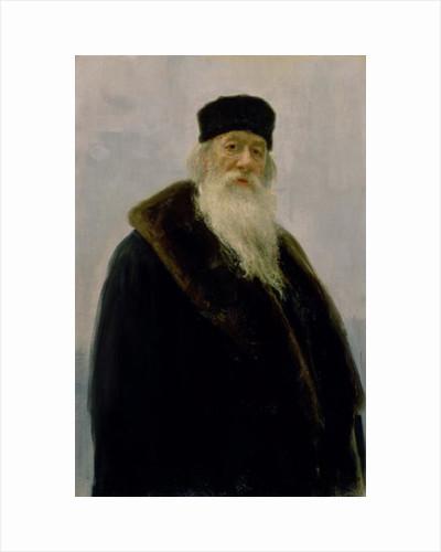 Portrait of Vladimir Vasil'evich Stasov by Ilya Efimovich Repin