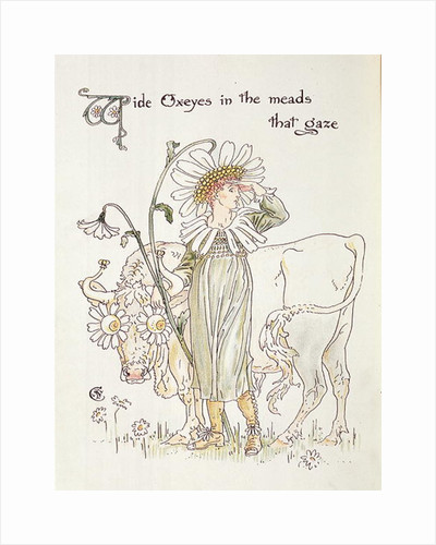 'Wild Oxeyes in Meads that Gaze' by Walter Crane